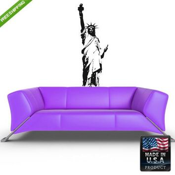 Wall Vinyl Decal Decal Sticker Beautiful Bedroom Kids Statue of Liberty  z149