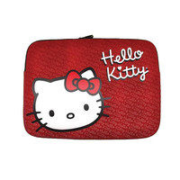 Hello Kitty KT4311RW Laptop Carrying Case Sleeve 9-11 Notebook - Red