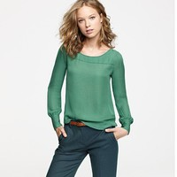 Women's shirts & tops - blouses - Scoopneck blouse - J.Crew