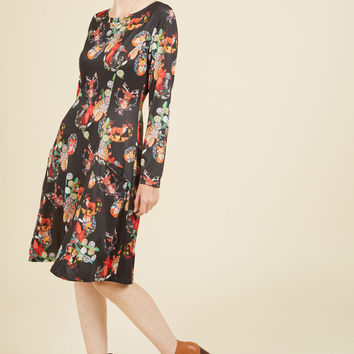 Get the Fox Straight A-Line Dress | Mod Retro Vintage Dresses | ModCloth.com