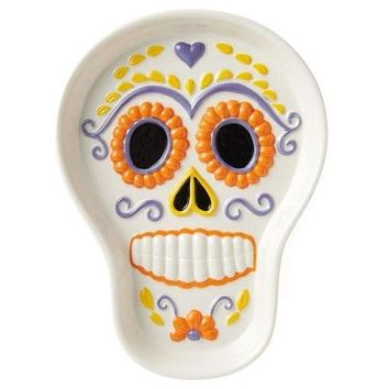 Hallmark Candy Sugar Skull Treat Dish