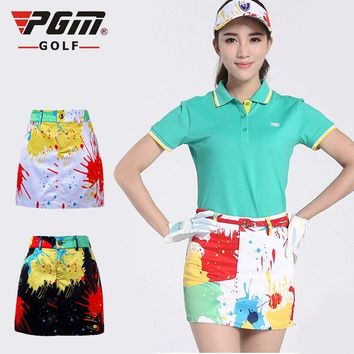 PGM Golf ladies golf clothing skirt culotte skirt camouflage