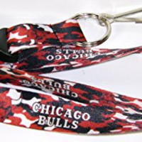 NBA Chicago Bulls Officially Licensed Team Color Camo Camouflage Lanyard