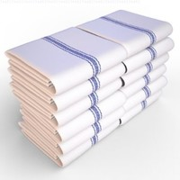 Keeble Outlets One Dozen (12) Kitchen Dish Towels - White - High Quality, Low Lint, Professional Grade 24 oz., 100% Cotton Tea Towel With Herringbone Weave for Exceptional Absorption. Use The Kitchen Towel Preferred by Professional Chefs Around the World -