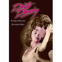 Dirty Dancing Grey Swayze Movie poster Metal Sign Wall Art 8in x 12in