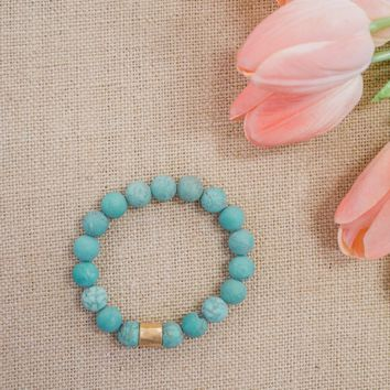 Pulse Perk - Turquoise Beaded Bracelet