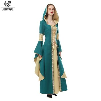 ROLECOS 2018 New Arrival Women Medieval Dress Renaissance Victorian Dress Ball Gown Evening Dress Princess Queen Cosplay Costume