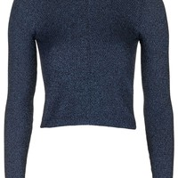 Diagonal Rib Crop Top - Topshop