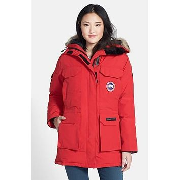 Women's Canada Goose 'Expedition' Relaxed Fit Down Parka with Genuine Coyote Fur