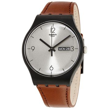Swatch Originals Lonely Desert Silver Dial Mens Watch SUOB721