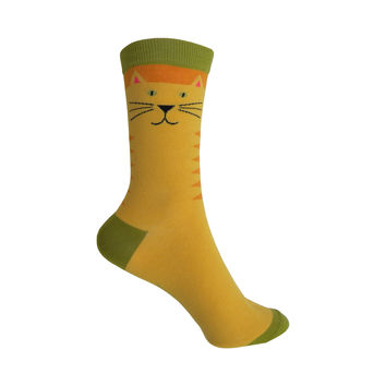 Kitty Crew Socks in Golden