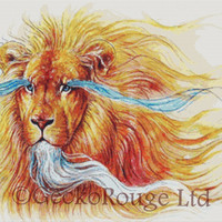 Lion Cross Stitch Kit - Licensed Art By Jonas Joedicke - Summer - Big Cat