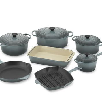 Le Creuset Signature 11-Piece Cookware Set, Ocean
