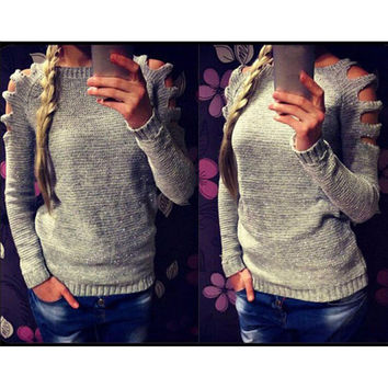 Slim Strapless Sweater [8778248454]