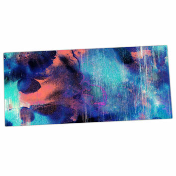 "Nina May ""Grotto Falls"" Blue Teal Desk Mat"