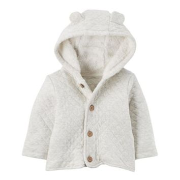 LMFPL3 Baby Carter's Sherpa Hood Quilted Jacket