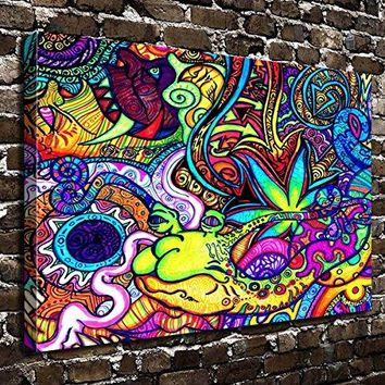 COLORSFORU Wall Art Painting Marijuana Prints On Canvas The Picture Landscape Pictures Oil For Home Modern Decoration Print Decor For Living Room