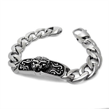 Gift Stylish Awesome New Arrival Great Deal Hot Sale Shiny Punk Titanium Men Accessory Strong Character Bracelet [6526708995]