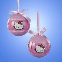 Kurt Adler Hello Kitty® Pink Decoupage Ball Ornaments With Pink Ribbon Bowl - Hello Kitty Products | Hello Kitty Fan Site | Hello Kitty Culture