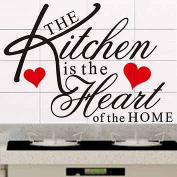 The kitchen is the heart Wall Sticker
