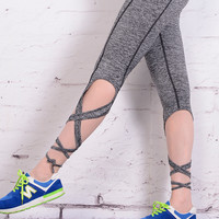 Women Yoga Ballet Bandage Pants Leggings Sport Runnning Clothes dance Fitness Run Legging Sportswear Tights Trousers