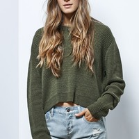 LA Hearts Cropped Pullover Sweater - Womens Sweater