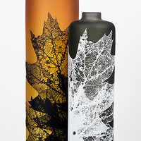 Leaf Vessels in Fall Tones by Nick Chase: Art Glass Vessel - Artful Home