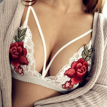 Stylish Bra Sexy Lace Floral Fashion Underwear [9908720067]