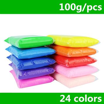 100g/bag 24 colors DIY safe and nontoxic Polymer Clay playdough Soft Power toys