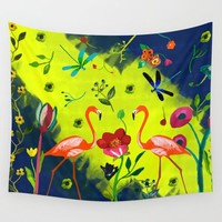 Hidden Paradise Wall Tapestry by Sagacious Design