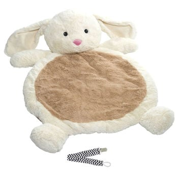 Mary Meyer Bunny Best Ever Baby Mat with Pacifier Clip