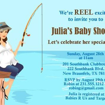 Fishing Baby Shower Invitation