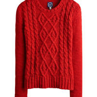 Red Avelyn Womens Cable Knit Jumper  | Joules UK