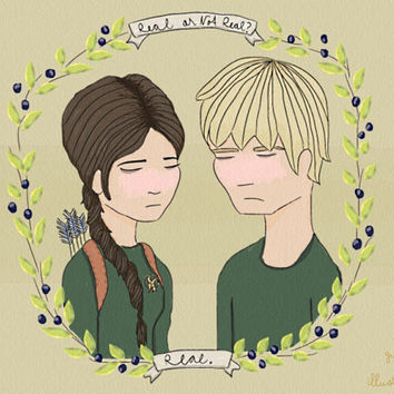 The Hunger Games Katniss and Peeta by GuthrieIllustrations on Etsy
