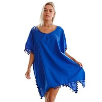 Solid Cover-Up With Tassels