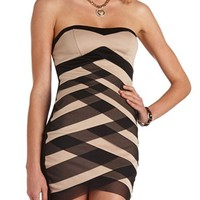 Tiered Mesh Body-Con Dress: Charlotte Russe