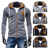 Zippers Casual Hoodies Hats Fashion Men Men's Fashion Jacket [6528647683]