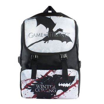 American TV Series Game of Thrones Nylon Waterproof Laptop Backpack/Double-Shoulder Bag/School Bag