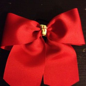 Softball hair bows from Nicole Ray