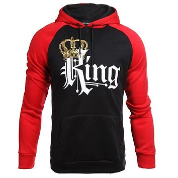 Duo Color KING Queen Matching Couples Hoodies