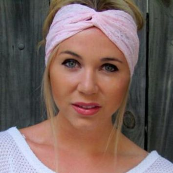 e2eaa688c44 New Women Lace Stretchy Headband Turban Bandanas Head wrap Twist