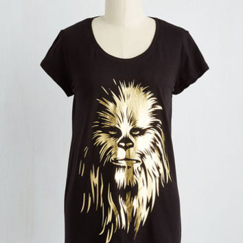 Quirky Mid-length Ready to Boogie-Wookie Tee