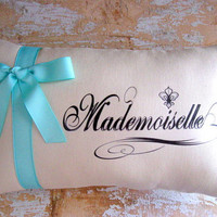 Mademoiselle Pillow, Tiffany Blue, French Country Home, Cottage Decor, Home Decor, Decorative Pillows