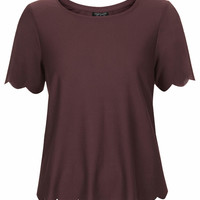 Scallop Frill Tee - Topshop
