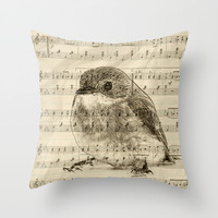 Songs of Birds Throw Pillow by Nirvana.K