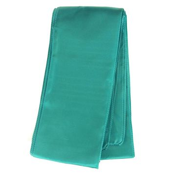 Satin Chair Bow Sash, Aqua, 6-inch x 9-feet, 6 Count