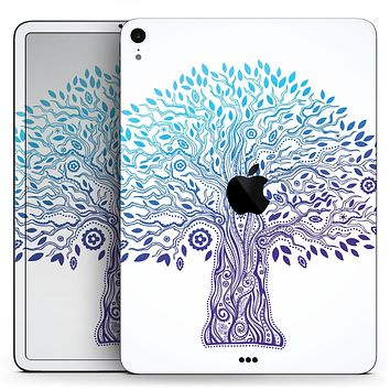 "Gradiated Tree of Life - Full Body Skin Decal for the Apple iPad Pro 12.9"", 11"", 10.5"", 9.7"", Air or Mini (All Models Available)"