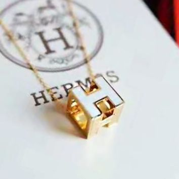 Hermes High Quality Classic Stylish Women Men Chic H Necklace Accessories Jewelry White