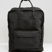 Fjallraven Re-Kanken Black Backpack at asos.com