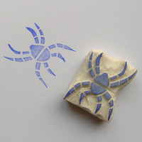 Spider rubber stamp, spider stamp, scary spider, tarantula, insect stamps, bug stamps, scrapbooking, diy, cardmaking, wrapping, papercraft